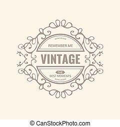 ロゴ, テンプレート, 贅沢, monogram