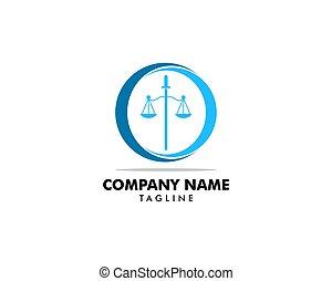 ロゴ, デザイン, ベクトル, テンプレート, 法律事務所