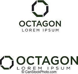 ロゴ, デザイン, 八角形