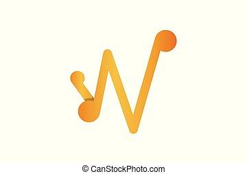 ロゴ, デザイン, 手紙, w, インスピレーシヨン