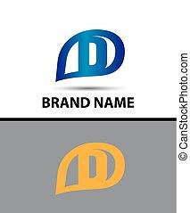 ロゴ, デザイン, d, 手紙