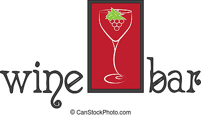 ロゴ, バー, ワイン
