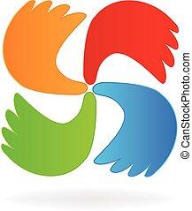 ロゴ, ビジネスの手