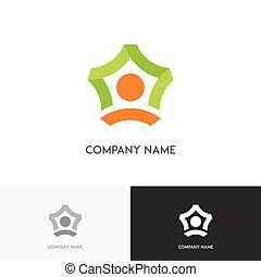 ロゴ, ビジネス, チームワーク