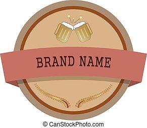 ロゴ, ビール, ブランド