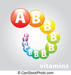 ロゴ, ブランド, ビタミン, 栄養