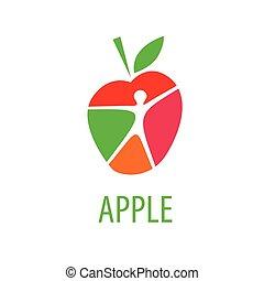 ロゴ, ベクトル, アップル