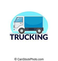 ロゴ, ベクトル, イラスト, トラック輸送