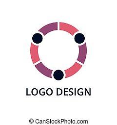 ロゴ, ベクトル, イラスト, 人々