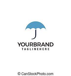 ロゴ, ベクトル, デザイン, テンプレート, 傘