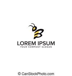 ロゴ, ベクトル, デザイン, テンプレート, 蜂