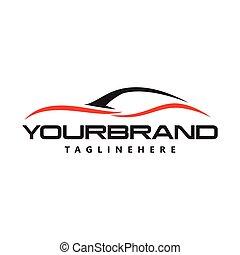 ロゴ, ベクトル, デザイン, 自動車, 自動車