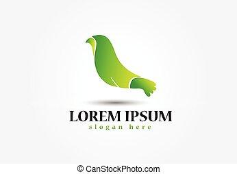 ロゴ, ベクトル, デザイン, 鳥