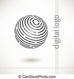 ロゴ, ベクトル, デジタル