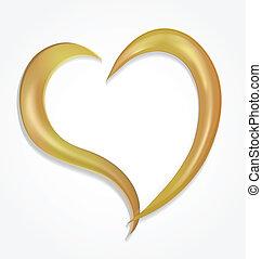 ロゴ, ベクトル, バレンタイン, 金の中心