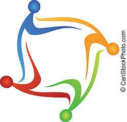 ロゴ, ベクトル, ビジネス 人々