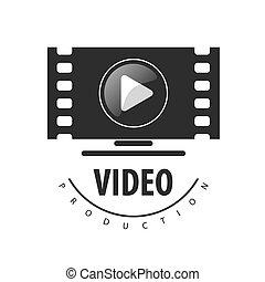 ロゴ, ベクトル, ビデオ モニター, 光景