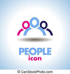 ロゴ, ベクトル, 人々, アイコン