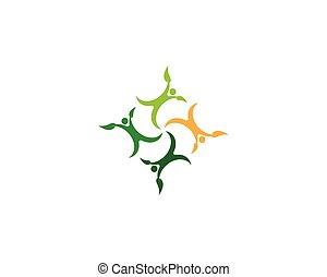 ロゴ, ベクトル, 健康, 生活