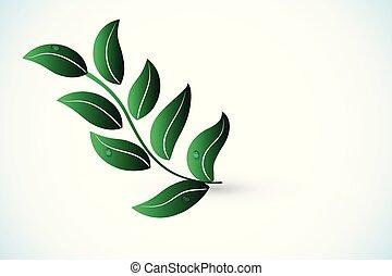 ロゴ, ベクトル, 健康, 自然, 葉