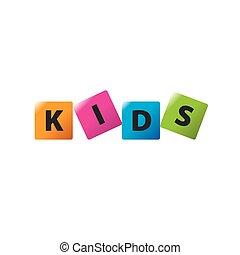 ロゴ, ベクトル, 子供