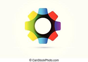 ロゴ, ベクトル, 技術, nano