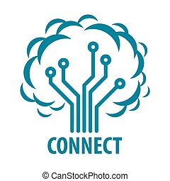 ロゴ, ベクトル, 木, ネットワーク, 連結しなさい