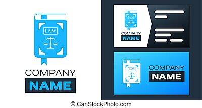 ロゴ, ベクトル, 法令, 白, 法律, logotype, バックグラウンド。, デザイン, 正義, element., テンプレート, スケール, 本, アイコン, 隔離された