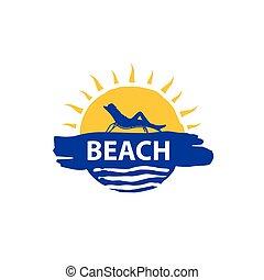 ロゴ, ベクトル, 浜