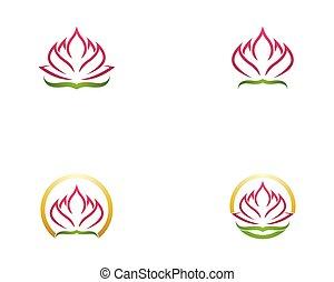 ロゴ, ベクトル, 花, ロータス