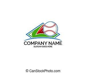 ロゴ, ベクトル, 野球