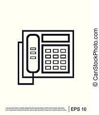 ロゴ, ベクトル, 電話, テンプレート, アイコン