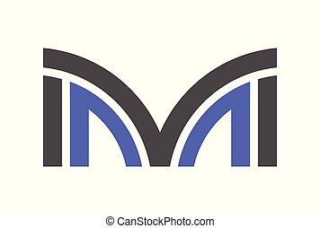 ロゴ, ベクトル, m, 手紙
