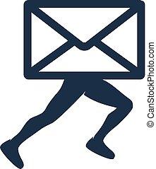 ロゴ, メール, 操業, デザイン, アイコン