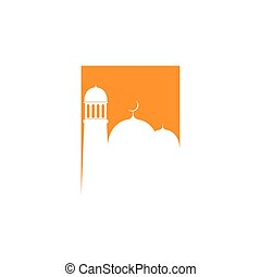 ロゴ, モスク, ベクトル, テンプレート