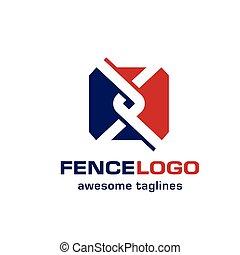 ロゴ, リンク, 鎖, フェンス