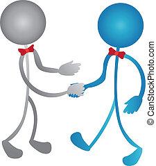 ロゴ, 人々ビジネス, 握手