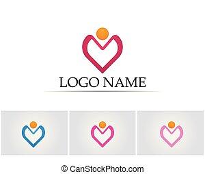 ロゴ, 人々, ヘルスケア