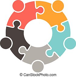 ロゴ, 人々, 家族