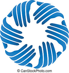 ロゴ, 会社, ベクトル, ビジネスの手
