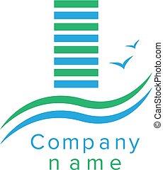 ロゴ, 会社, 建設