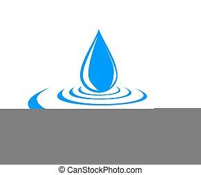 ロゴ, 低下, water.