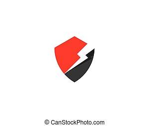 ロゴ, 保護, 力, テンプレート