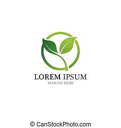 ロゴ, 健康, 自然, 葉