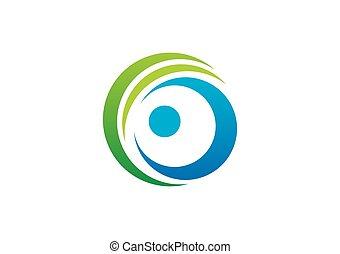 ロゴ, 円, ベクトル, 企業のビジネス