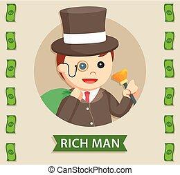 ロゴ, 円, 豊富, 太った男