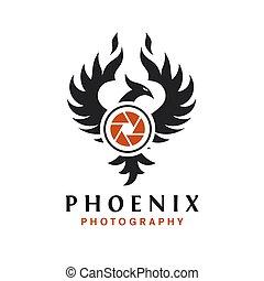 ロゴ, 写真撮影, フェニックス, デザイン