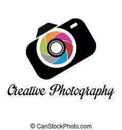 ロゴ, 創造的, テンプレート, カメラマン