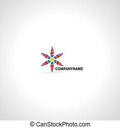 ロゴ, 創造的, ベクトル