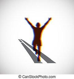 ロゴ, 動くこと, マラソン